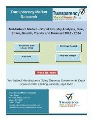 Tert-butanol Market Size, Share   Industry Trends Analysis Report, 2024