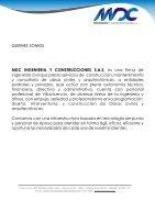 PORTAFOLIO MDC INGENIERIA Y CONSTRUCCIONES - Page 2