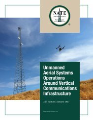 Unmanned Aerial Systems Operations Around Vertical Communications Infrastructure