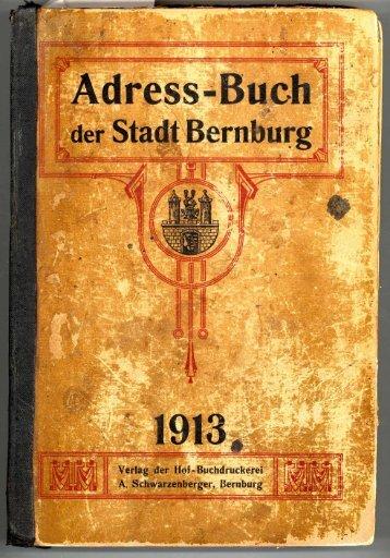 Adressbuch Bernburg 1913