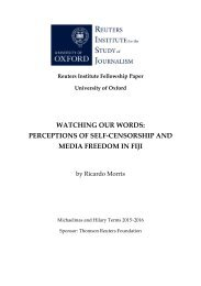 PERCEPTIONS OF SELF-CENSORSHIP AND MEDIA FREEDOM IN FIJI