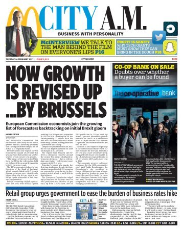 NOW GROWTH IS REVISED UP ...BY BRUSSELS