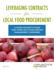 Guide_Leveraging Contracts for Local Food