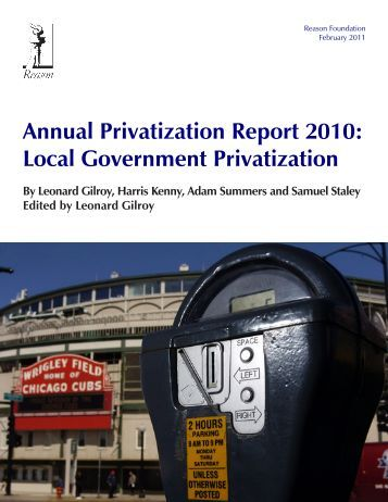 Local Government Annual Privatization Report 2010