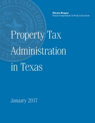 Property Tax Administration in Texas