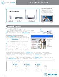 Philips Streamium Récepteur audio sans fil - Services en ligne disponibles - DEU