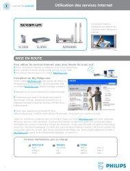 Philips Streamium Récepteur audio sans fil - Services en ligne disponibles - FRA