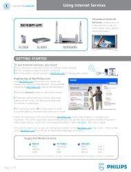 Philips Streamium Récepteur audio sans fil - Services en ligne disponibles - ENG