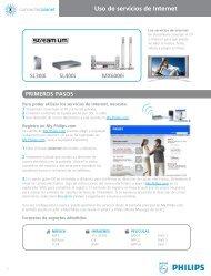 Philips Streamium Récepteur audio sans fil - Services en ligne disponibles - ESP