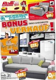 Rolli Küchen + Möbeldiscounter in 65604 Elz: Bonus-Verkauf! Einfach Clever einrichten!