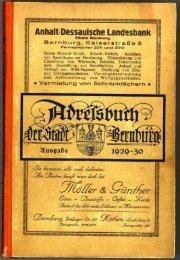 Adressbuch Bernburg 1929-1930