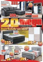 Mega Möbel: 20 Jahre - Unsere Bestseller zum Jubeln!