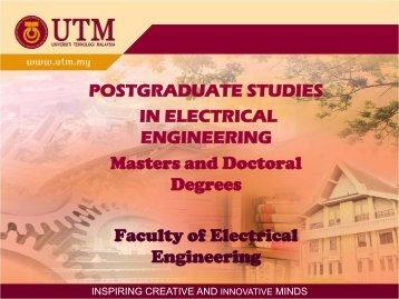POSTGRADUATE STUDIES IN ELECTRICAL ENGINEERING ...