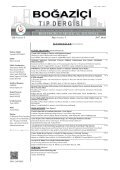 Boğaziçi Tıp Dergisi - Page 7