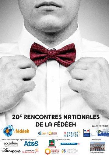 20 RENCONTRES NATIONALES DE LA FÉDÉEH