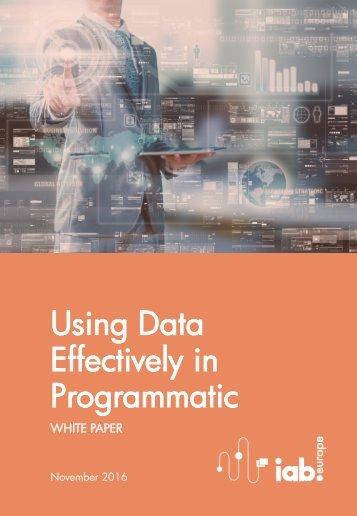 Effectively in Programmatic
