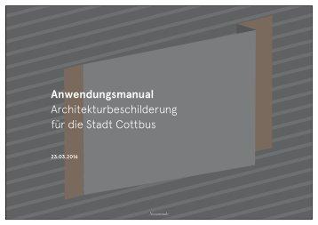 Architekturbeschilderung Cottbus - Handbuch