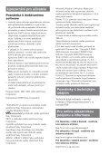 Sony NW-E103 - NW-E103 Istruzioni per l'uso Ceco - Page 5