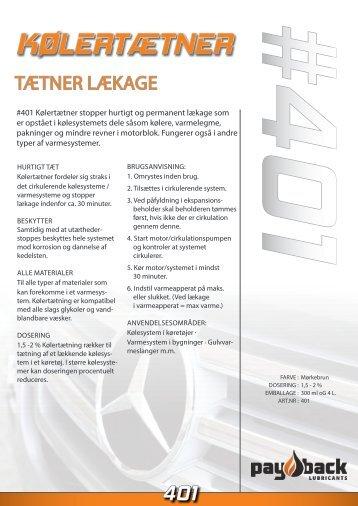 #401 Kølertætner PDF