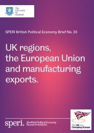 the European Union and manufacturing exports