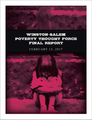 Winston-Salem Poverty Thought Force Final Report