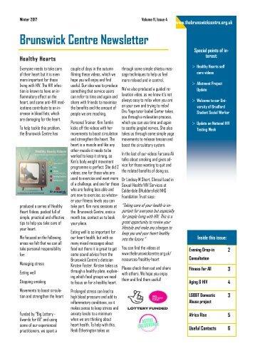 Brunswick Centre Newsletter