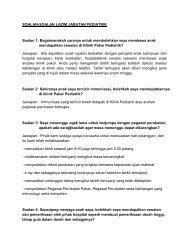 SOALAN-SOALAN LAZIM JABATAN PEDIATRIK Soalan 1 ...