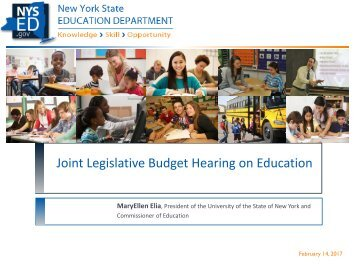 Joint Legislative Budget Hearing on Education