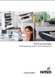 Hettich - Technik und Anwendung Büro und Arbeitswelten Band 3