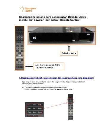 Soalan lazim tentang cara penggunaan Dekoder Astro melalui alat ...