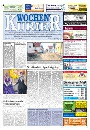 Wochen-Kurier 7/2017 - Lokalzeitung für Weiterstadt und Büttelborn
