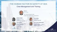 The Human Factor in Safety at Sea - Crew Management & Training