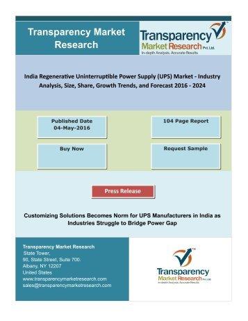 India Regenerative Uninterruptible Power Supply (UPS) Market