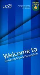 Info for International Student - Universiti Brunei Darussalam
