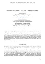 Eco Resistance in the Poetry of the Arab - UKM Journal Article ...