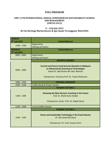 FULL PROGRAM - UMT 11th International Annual Symposium on ...