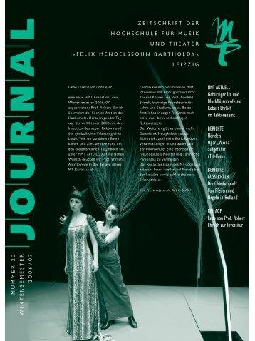 MT-Journal 22 - Hochschule für Musik und Theater Felix ...