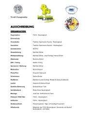 Ausschreibung - Double Ultra Triathlon Austria 2011 - Fitlike