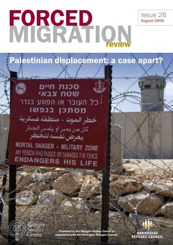 Palestinian displacement: a case apart? - Forced Migration Review