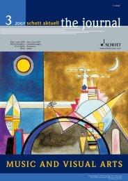 music and visual arts - Schott Music