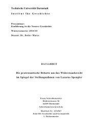 Technische Universität Darmstadt Institut für Geschichte Die ...