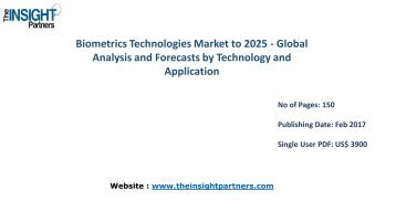Biometrics Technologies Industry New developments, Landscape Analysis and Forecast to 2025 |The Insight Partners