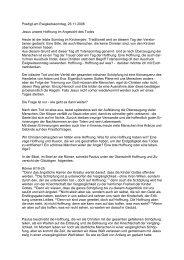 Predigt zum Ewigkeitssonntag 26.11.06 Daniela Gruß - Baptisten