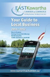 by Business Name - East Kawartha Chamber of Commerce