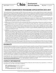 ENERGY ASSISTANCE PROGRAMS APPLICATION 2016–2017