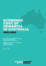 ECONOMIC COST OF DEMENTIA IN AUSTRALIA