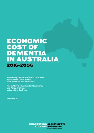 ECONOMIC COST OF DEMENTIA IN AUSTRALIA
