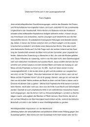 Diakonische Kirche in der Lazarusgesellschaft - Prof. Dr. Franz ...