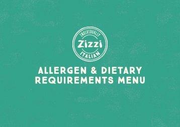 ALLERGEN & DIETARY REQUIREMENTS MENU