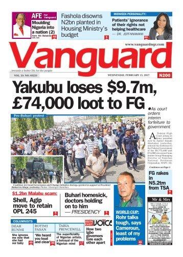 15022017 Yakubu loses .7m, £74,000 loot to FG